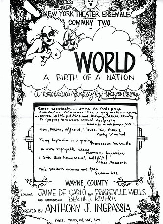 World - A Birth Of A Nation programme front cover